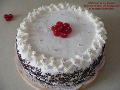 Dulciuri si nu numai: Tort cu crema de sampanie si mousse de visine