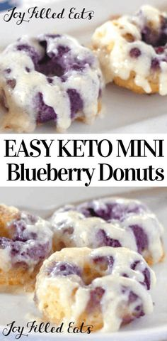 keto breakfast Keto Blueberry Donuts with Cream Cheese Glaze - Low Carb, Grain-Free, Gluten-Free, Sugar-Free, THM S - My Warm Lemon Blueberry Donuts with Cream Cheese Glaze are amazing. Blueberry Donuts, Blueberry Desserts, Low Carb Donut, Low Carb Keto, Low Carb Desserts, Low Carb Recipes, Diabetic Desserts, Diabetic Recipes, Healthy Recipes