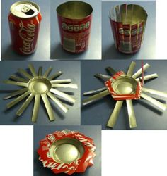 Do it yourself! ashtray,keytray,coin holder, candle holder.... made out of recycle cans
