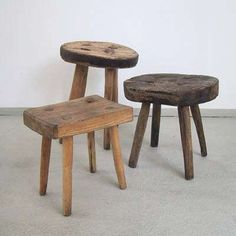 unique handcrafted wooden stools- good for side tables to set a drink on and for extras to sit on around coffee tables etc Primitive Furniture, Country Furniture, Farmhouse Furniture, Ikea Furniture, Find Furniture, Wooden Furniture, Vintage Furniture, Furniture Online, Discount Furniture