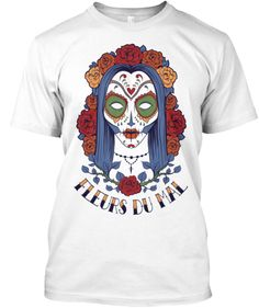 modèle unique tee-shirt fleurs du mal