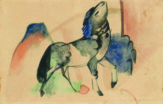 Martin Moeller & Cie. (Hamburg) will present Petit Cheval, created in 1912 by Franz Marc (1880 – 1916) at the 2015 edition of the Salon du dessin. The artist sent the aquarel postcard to German friends in Paris.