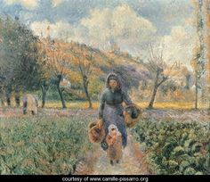 In the Garden - Camille Pissarro -
