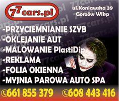 Przyciemnianie szyb Gorzów Wielkopolski, oklejanie aut, reklama, folie okienne