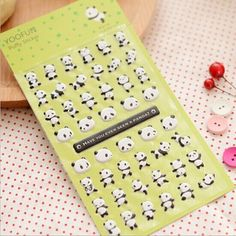 1 pc/lot Super Cute Panda Bubble Stickers Phone Paste DIY Lovely Bubble Stickers Kawaii Homemade Decorative Stickers