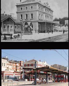 Estación y quiosco modernista del Anís del mono a principios del siglo XX…