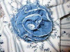 FABRIC ROSE PIN by Tillysbridge for $6.00