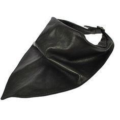 Rare! Authentic Hermes Leather Scarf Black Lambskin Vintage France Nr03520