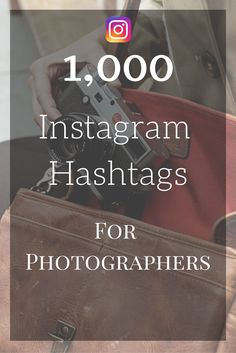 This includes over 1000 hashtags to use for your photography business!