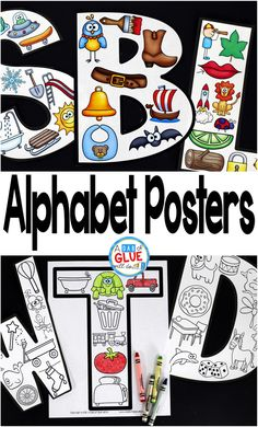 Your preschoolers are going to LOVE Alphabet Posters! These posters are a great addition to help your students better learn their letters. Use in your Preschool, Kindergarten, and First Grade classrooms. This pack includes 26 posters that each contain a Preschool Letters, Kindergarten Literacy, Preschool Classroom, Preschool Learning, Kindergarten Posters, Classroom Decor, Alphabet Crafts, Letter A Crafts, Letter Activities