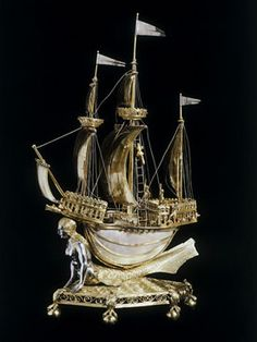 A great blog about Salt Cellars and examples of them in paintings.  Burghley Nef
