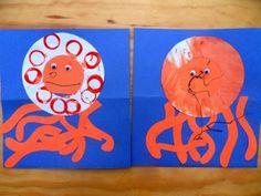 Lowercase O Craft: Orange Octopus in the Ocean - Mud Hut Mama Preschool Literacy, Preschool Letters, Learning Letters, Preschool Activities, Kindergarten, Letter O Crafts, Alphabet Crafts, Alphabet Book, Letter Art
