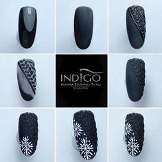 Cute Christmas Nails, Xmas Nails, Christmas Nail Designs, Acrylic Nail Designs, Nail Art Designs, Acrylic Nails, Winter Nail Art, Winter Nails, Nail Manicure