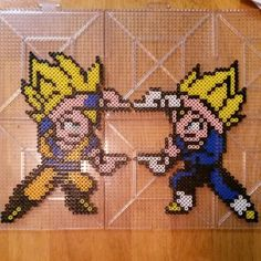 Dragon Ball Z perler beads by keytoterror