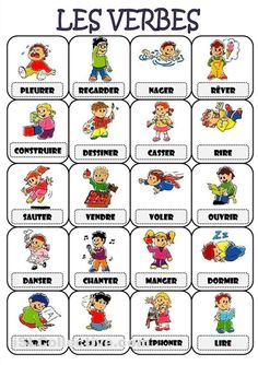Vocabulaire des verbes courants