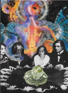 "SoulCollage Created and Shared by PaperSelfies:  Seance on Maple Street. We are the few who will persuade the many to our point of view no matter how narrow it is.  We will bend your will to our own opening the door to mob rule and encouraging the anarchy of the monster we create.  References:  The persecution of any specific race by another for the purposes of  instilling fear, personal greed, power or material gain.  ""Maple Street"" is an Episode of the Twilight Zone of similar subject."