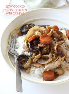 ... Cooked Chinese Five Spice Chicken with Cashews & Shiitake Mushrooms