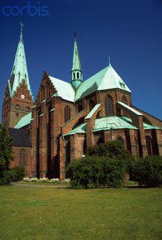 Peter's Church in Malmo, Sweden Church Architecture, Religious Architecture, Amazing Architecture, St Peter's Church, Cathedral Church, Interesting Buildings, Old Churches, Christian Church, Iglesias