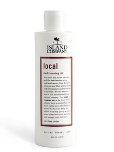 Island Company's Local Dark Tanning Oil features our unique island Coco Love fragrance recipe! Our Local Dark Tanning Oil is for the serious tanning professional who has achieved 'local' status.