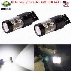 JDM ASTAR 50W CREE 7443 7440 LED White Extreme Bright Tail Brake Stop Light Bulb #JDMASTARaftermarketledbulb