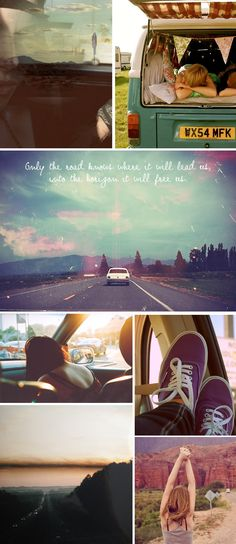 Bring on a cool campervan or a car you can sleep in and I´ll go where the roads take me.
