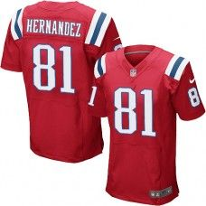 Mens Red NIKE Game New England Patriots http://#81 Aaron Hernandez Throwback NFL Jersey
