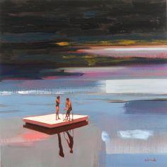 "Saatchi Art Artist Elizabeth Lennie; Painting, ""Between Water and Love (sold)"" #art"