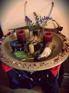 Beltane Altar • Ophelia Violetta - My Beltaine altar for this year ♥