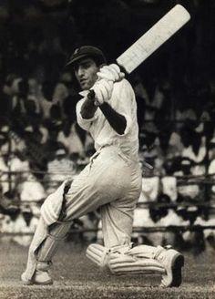 Mansur Ali Khan Pataudi during his unbeaten knock of 128 against Australia at the Corporation Stadium, Madras,in October 1964.  #Cricket Legends