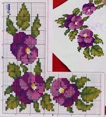 Risultati immagini per punto croce violette