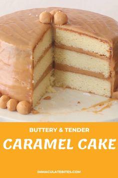 Caramel Cake Filling, Caramel Cake Frosting, Caramel Cakes, Chocolate Caramel Cake, Butterscotch Cake, Baking Recipes, Cake Recipes, Snack Recipes, Dessert Recipes