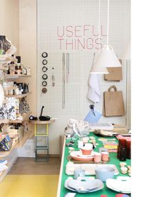 Useful Things!  The current exhibit of functional objects for sale at Ganim's Store!. Photo – Lucy Feagins.