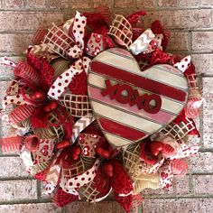 Valentine wreath Valentines Day Wreath - Red Deco Mesh Wreath - Deco Mesh Wreath - Burlap Valentine Welcome Wreath - Heart XOXO Wood Sign Everyday. Made with deco mesh and coordinating ribbon Its ready to hang on your front. Wreaths are not made to be in direct sunlight and should