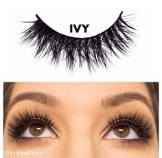 """The #lashbrat """"IVY"""" mink lash is the perfect multi-tiered lash with a beautiful criss cross pattern.  Visit ✨LASHBRAT.com✨ to purchase her and save 20% by using code: ✨bratty20✨ at checkout.  Eye Model: @sissafaye  #minklashes #lashes #Makeup #bratish #brattyspringsale"""