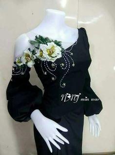 Fashion Details, Diy Fashion, Fashion Dresses, Womens Fashion, Nice Dresses, Short Dresses, Myanmar Dress Design, African Blouses, Indian Designer Wear