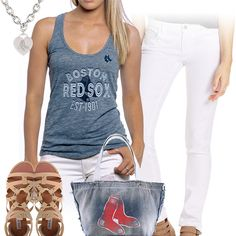 d182c1d3e Boston Red Sox Tank Top Outfit Tank Top Outfits, Red Sox Baseball, Boston  Red