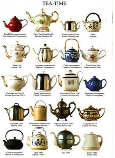 Tea-Time teapots.