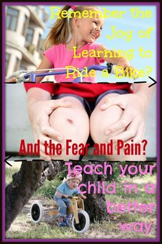 Click here to learn a better way to teach your child to ride a bike: http://kiddokorner.com/blog/how-to-teach-your-child-to-ride-a-bike.html