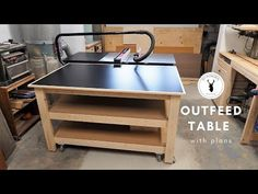 Outfeed Table / Workbench | Mobile & Leveling - YouTube Woodworking Projects Diy, Woodworking Videos, Woodworking Plans, Woodworking Shop, Diy Projects, Portable Workbench, Mobile Workbench, Dust Collection Hose, Table Saw Extension