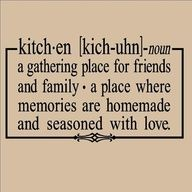The definition of kitchen