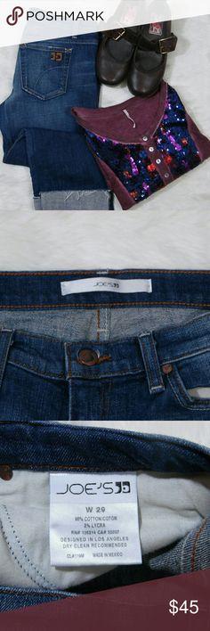 HP 4/21 Joes Jeans Cropped EUC Inseam 21.5 Rise 7.5 Waist flat hip to hip 16.5 Joe's Jeans Jeans Ankle & Cropped