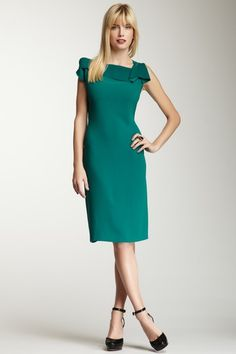 The perfect work dress in 2013's hottest color - {@ElieTahari Sheldon Dress}