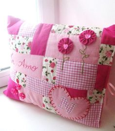 Girly Patchwork Pillowcase  by Bird's Party