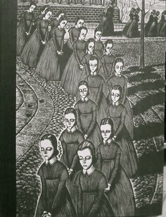 Jane Eyre: Random House in 1943, illustrations by Fritz Eichenberg. The drawings are a strange mix of eeriness and beauty.