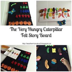 TeacherMomPlus3: Tot-School The Very Hungry Caterpillar Felt Story Board