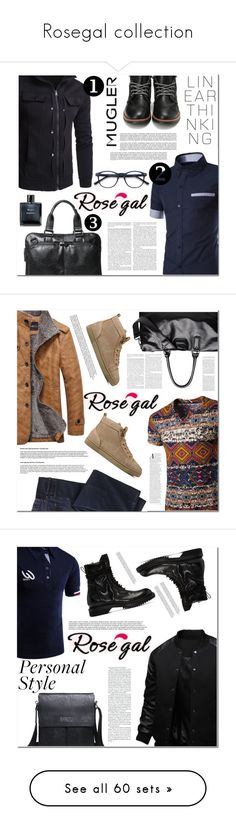 """""""Rosegal collection"""" by angel-a-m on Polyvore featuring MensFashion, polyvoreeditorial, polyvorefashion, rosegal, Thierry Mugler, Chanel, men's fashion, menswear, TravelSmith and Christian Louboutin"""
