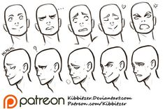 Drawing Eyes Expression Facial Expressions reference sheet by Kibbitzer - Face Reference, Drawing Reference, Drawing Expressions, Poses References, Tips & Tricks, Art Graphique, Drawing Techniques, Learn To Draw, Drawing People