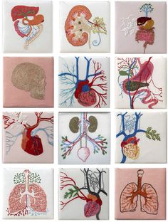 "Above via moshita: Cecile Dachary In love with this embroidered anatomy? Take a tour through some other examples of ""string theory&#..."