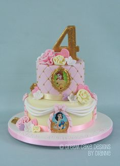 'EVA' ~ PRETTY 2 TIER PRINCESS THEMED CAKE Dream Cake, Themed Cakes, Cake Designs, Birthday Cakes, Special Occasion, Princess, Simple, Pretty, Desserts