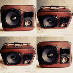 luggage speaker / Radio, Micro sd, Bluetooth, AUX, USB özellikleriyle özel tasarım ürünlerimiz hizmetinizdedir